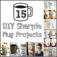 Give as gifts or make for yourself with one of the must frugal DIY projects! This collection of Sharpie mug ideas are fun to make and give!