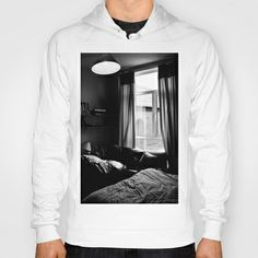 Inside this room... I've got this feeling. Hoody by Anja Hebrank - $42.00  #window #room #blackandwhite #streetphotography #canon #present #decoration #kitchen #interior #bnw #blackwhite #travelling #travelphotography #design #individual #society6 #print #art #artprint #hoodie #jumper #zipper #pullover #fashion