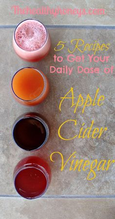 Apple Cider Vinegar 5 Recipes to Get Your Daily Dose of Apple Cider Vinegar - The Healthy Honeys - Taking apple cider vinegar for health can be a challenge. We have created 5 apple cider vinegar recipes to help you learn to love drinking it. Smoothies, Juice Smoothie, Smoothie Drinks, Detox Drinks, Acv Drinks, Cold Drinks, Cocktails, Taking Apple Cider Vinegar, Apple Cider Vinegar Remedies