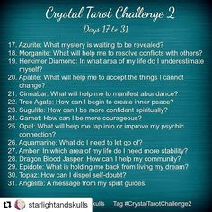 """21 Likes, 2 Comments -  Divination Challenges  (@divination.challenges) on Instagram: """"#Repost @starlightandskulls with @repostapp ・・・ I'm excited to announce that the Crystal Tarot…"""""""