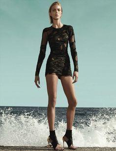 visual optimism; fashion editorials, shows, campaigns & more!: anja rubik by mario testino for vogue germany march 2014