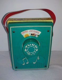 Vintage Fisher Price music box pocket radio 778 Frere Jacques works #FisherPrice