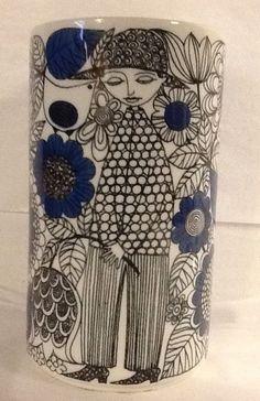 """Arabia Finland Vase Pastoraali Arabia 6"""" Esteri Tomula Mid Century 1960s #ArabiaofFinland"""