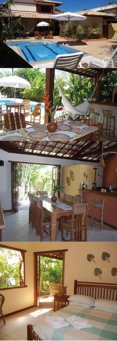 CASA 4 QUARTOS - PRAIA DO FORTE Casa em excelente condomínio com acesso direto para a melhor praia de Praia do Forte, as piscina naturais do Papa Gente.