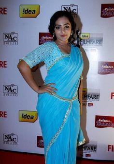 Actress Nithya Menen Stills In Blue Sari At Idea Film fare Awards South Indian Actress Hot, Indian Actress Hot Pics, Actress Photos, Indian Actresses, Beautiful Bollywood Actress, Most Beautiful Indian Actress, Beautiful Actresses, Chennai, Nithya Menen