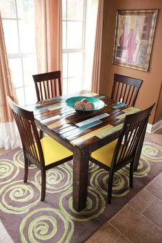 Rustic Multi Colored Breakfast Table by 3JsDecor on Etsy, $250.00