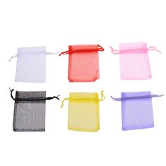 10PcsLot Wholesale Lovely Colorful Organza Wedding Party Bag Pouch Gift Candy Bags Pocket Packing Bags Wedding Accessories