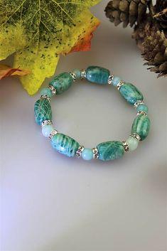 Sima-polodrahokamy / náramok amazonit - luxusný šperk Turquoise Bracelet, Bracelets, Jewelry, Fashion, Moda, Jewlery, Jewerly, Fashion Styles, Schmuck