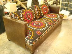 Leather Sofa Covers With Regard To Antique Suzani Morgan Chair Upholstery And Custom Furniture