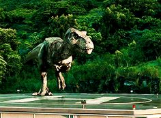 Jurassic World T-Rex gif... T-Rex will always be king