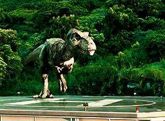 Jurassic World T-Rex gif... T-Rex will always be king