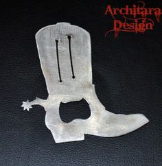 Cowgirl or Cowboy Boot Metal Bottle Opener by ArchitaraDesign, $13.00