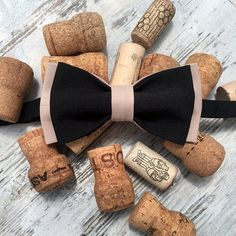 Elegant black beige bow tie convenient to use, because this is pretied bow tie. For boys or for man, for newborn, toddler or adult - no metter. It good accessories fo all trendy people  You can dress it up for spring and summer wedding or b-day, to visit an exhibition or for a walk. Bow-ties is always good idea!  https://www.etsy.com/listing/619256413/elegant-black-beige-bow-tie-summer?ref=shop_home_active_1