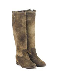 THE SELLER - Stivali - Donna - Stivale in camoscio con suola in cuoio e gomma…