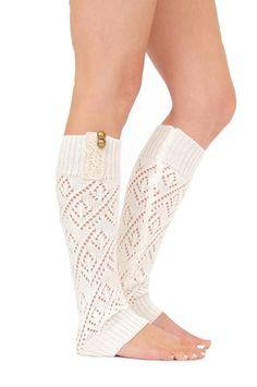 Knit Laced Leg Warmer Leggings (Ivory) – Niobe Clothing