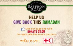 """For our campaign during Ramadan 2012, we're donating $1.00 to our charity partners for every new """"like"""" our Facebook page receives."""