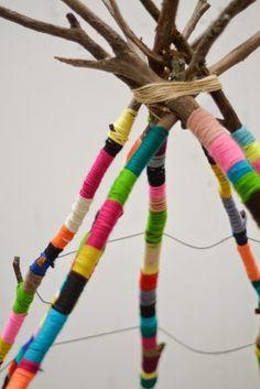Un tipi coloré, facile à créer /  Crédit photo Natalie Miller /