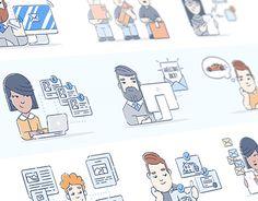 """Popatrz na ten projekt w @Behance: """"Brand Illustrations"""" https://www.behance.net/gallery/46054763/Brand-Illustrations"""