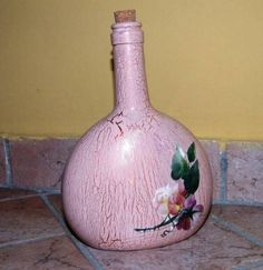 Foto di Vivastreet.it IDEA REGALO !! Bottiglia decorata con tecnica decoupage Decoupage, Vase, My Love, Bottle, Products, Home Decor, Decoration Home, Room Decor, Flask