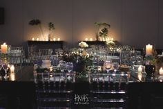 ambientación bar mitzvah, hotel The Brick, chrome, plateado, sillas tiffany cristal