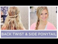▶ 2 Super Quick Everyday Hairstyles!! - YouTube
