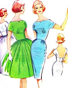 1960s Evening Dress Pattern McCalls 5772 Sheath or by paneenjerez, $45.00