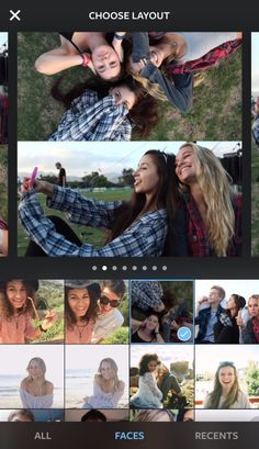 Here's how to select photos in Layout.