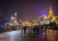 Take a walk along the Bund to watch the city light up and locals wind down.