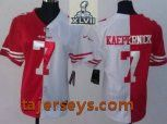 2013 Super Bowl XLVII Women Nike NFL San Francisco 49ers #7 Colin Kaepernick Red White Split NFL Jerseys Price:$22