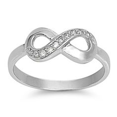 Sterling Silver ring size 9 CZ Infinity Eternity Midi Knuckle New 925 r76 #Unbranded #Statement