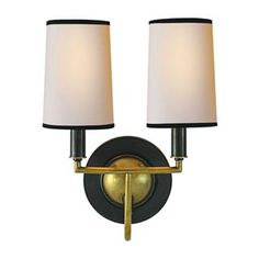 Check out the Visual Comfort TOB2068 Thomas OBrien Elkins 2 Light Sconce priced at $377.90 at Homeclick.com.