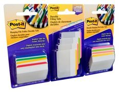 Create #Backtoschool order with Post-it® Tabs ( 2 inch Angled Lined)  - Easily #organize planners and calendars into sections. Durable, writable, repositionable. Also great for #binders, #notebooks and file folders! #BackToSchool