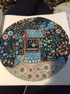 johanna basford secret garden wishing well - Google Search