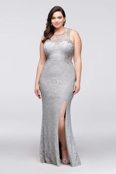 b0cc24827a0 Find plus size prom dresses at David s Bridal! Our collection includes plus  size prom dresses in a variety of styles   colors such as short
