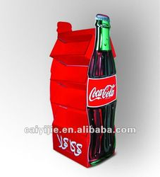 2012 fashion point of sale display stands--coca-cola free standing cardboard display
