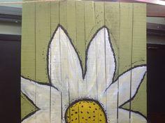 Whimsical twin headboard will brighten a little girl's bedroom...see at PIORRA mattress store, downtown LocustGrove, Ga.