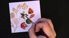PB&J: Brushstroke Stamping and Watercolor Painting on Art Square