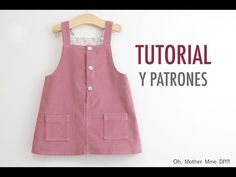 Tutorial y patrones Baby Dress Patterns, Baby Clothes Patterns, Clothing Patterns, Frocks For Girls, Kids Frocks, Baby Girl Party Dresses, Little Girl Dresses, Sewing Baby Clothes, Baby Sewing
