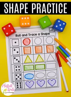 Preschool Math: ShapesYou can find Shapes kindergarten and more on our website. Shape Activities Kindergarten, Preschool Learning Activities, Montessori Preschool, Montessori Elementary, Math Games For Preschoolers, Preschool Shape Activities, Number Activities, Fun Learning, Toddler Activities