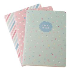 This pack of three A5 Essential Notebooks is perfect for all your note-taking needs. Divide them up for your different use's, pop them in your bag and write away in organised style.