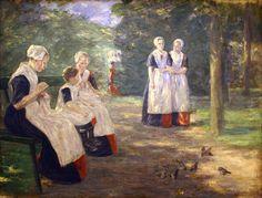 Max Liebermann  (1847-1935), Le jardin de l'orphelinat communal de la ville d'Amsterdam,  Musée d'Art moderne et contemporain de Strasbourg