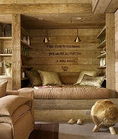 "Love this nook & the quote by Plato:  ""Be kind to everyone for we are all fighting a hard battle""~"