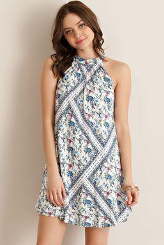 SHIFT HALTER DRESS