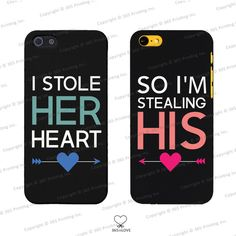 disney phone cases for couples - stole her heart iphone 4 4s 5 5s 5c 6 6p, galaxy s3 s4 s5 htc m8 lg g3 - disney mickey and minnie inspired and other apparel, a...