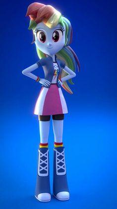 3D equestria girls Rainbow Dash