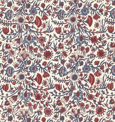 Dutch Chintz - Hindelopen Ecru Red/Blue 1/2 yd by Motifsbyhand on Etsy https://www.etsy.com/listing/156340177/dutch-chintz-hindelopen-ecru-redblue-12