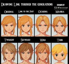 So cool! Link through the generations | Legend of Zelda