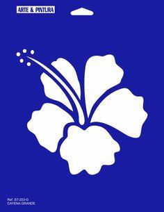 CAYENA GRANDE TAMAÑO 21 X 27 Stencil Patterns, Stencil Designs, Bar Palettes, Letter Stencils, Custom Hats, Paint Shop, Tropical Flowers, Toddler Crafts, Painted Rocks