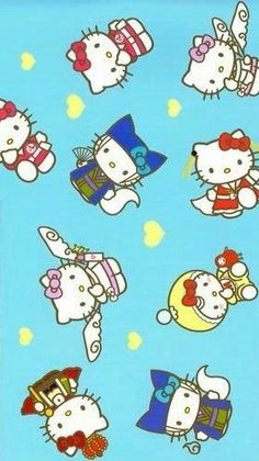 Hello Kitty Backgrounds, Sanrio, June, Snoopy, Wallpaper, Friends, Pattern, Fictional Characters, Art