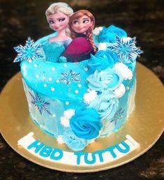 Elsa Birthday Cake, Frozen Themed Birthday Cake, Baby Girl Birthday Cake, Frozen Theme Cake, Pretty Birthday Cakes, Themed Cakes, 5th Birthday, Birthday Ideas, Elsa Cakes
